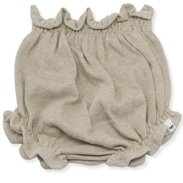 oh baby! Flat Knit High Waisted Tushie Diaper Cover  - Sand