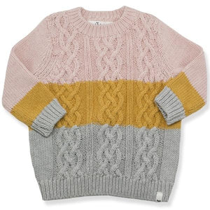 oh baby! Nordic Sweater - Pink-Mustard-Gray