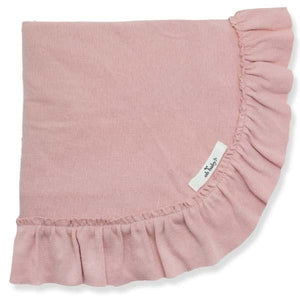 oh baby! Ruffle Trimmed Layette Blanket - Blush