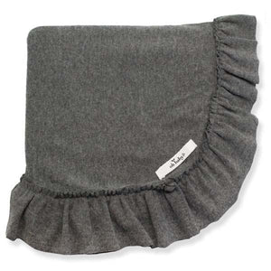 oh baby! Ruffle Trimmed Layette Blanket - Charcoal