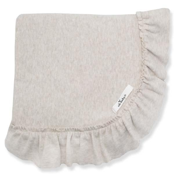 oh baby! Ruffle Trimmed Layette Blanket - Sand