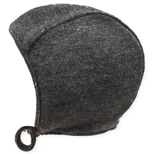oh baby! Winter Sweater Knit Pilot Cap - Charcoal