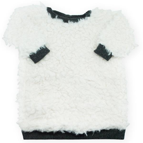 oh baby! Llama Sweater Dress - Snow