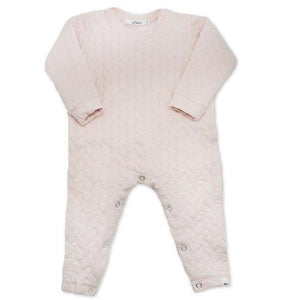 oh baby! Quilted Romper - Pale pink