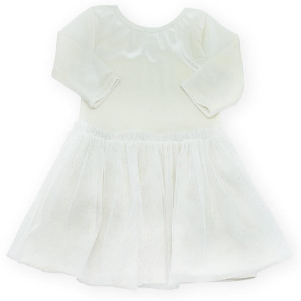oh baby! Ballet Velvet Dress, Cream With Ivory Skirt