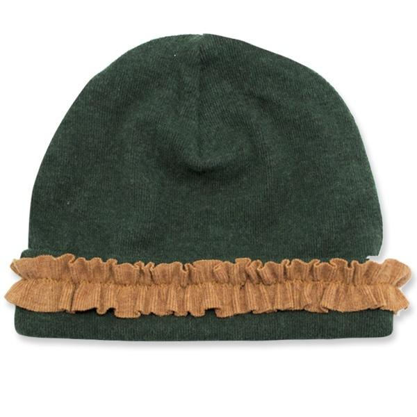 oh baby! Ruffled Hat w/Rust - Forest