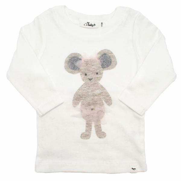 oh baby! Long Sleeve Top - Ballerina Mouse - Cream - Size 6