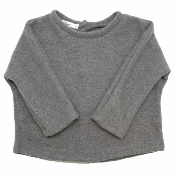 oh baby! Great Plains Fleece Sweater - Charcoal