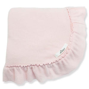 oh baby! Winter Ruffle Blanket - Brushed Pale Pink