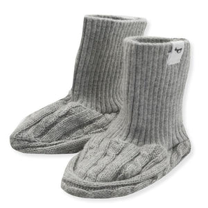 oh baby! Cable Knit Bootie, Gray