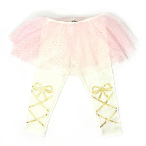 oh baby! Glinda Light Pink Ballerina Leggings - Cream