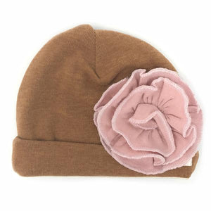 oh baby! Blush Flower Hat - Rust