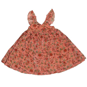 Lily Peach Roses Dress