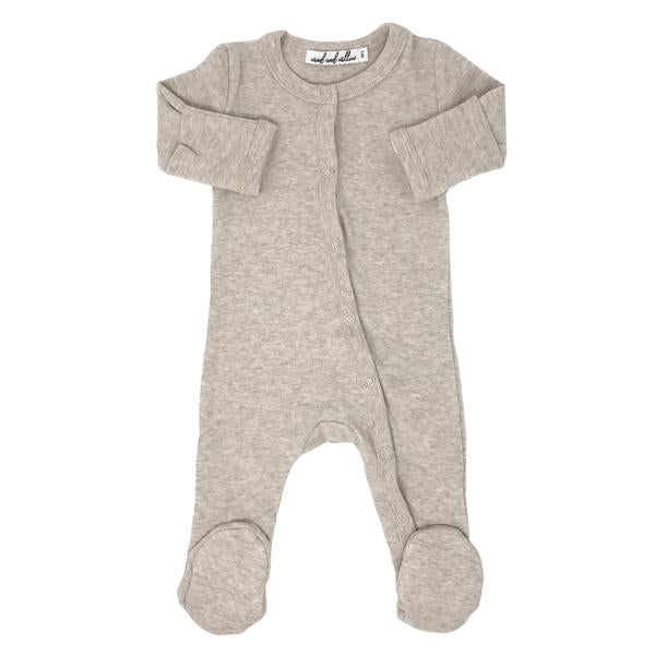 Wind and Willow Footie Onesie Baby Rib - Sand