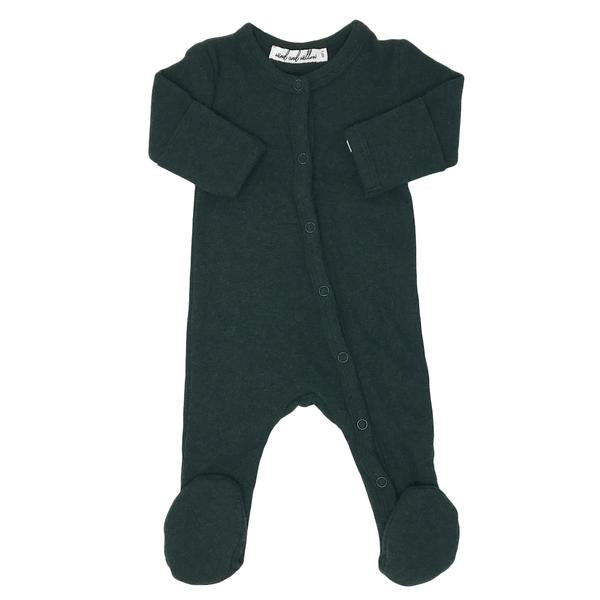 Wind and Willow Footie Onesie Baby Rib - Forest