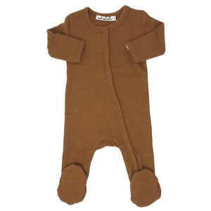 Wind and Willow Footie Onesie Baby Rib - Rust