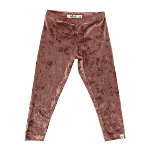 oh baby! Luxe Velvet Leggings, Clay Crush