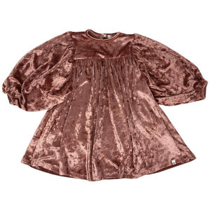 oh baby! Raphael Velvet Dress - Clay Crush