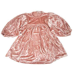 oh baby! Raphael Velvet Dress - Pale Pink Crush