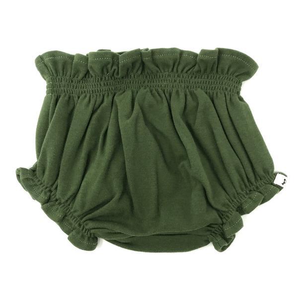 oh baby! High Waisted Tushie Diaper Cover  - Moss