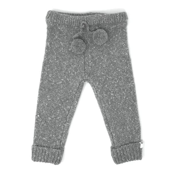 oh baby! Marled Knitted Pant - Hazy Grey