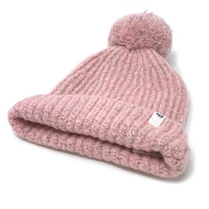 oh baby! Marled Knitted Pom Hat - Blush