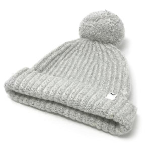 oh baby! Marled Knitted Pom Hat - Ice