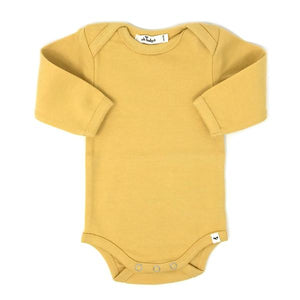 oh baby! Long Sleeve Onesie Baby Rib - Maize