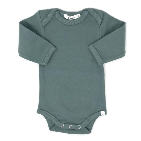 oh baby! Long Sleeve Onesie Baby Rib - Sea
