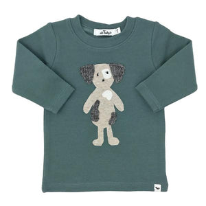 oh baby! Ragdoll Spot Dog Long Sleeve Tee - Sea