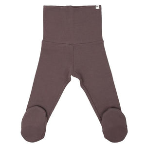 oh baby! Yoga Footie Pant Baby Rib - Lavender