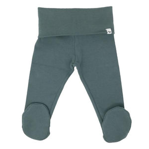 oh baby! Yoga Footie Pant Baby Rib - Sea