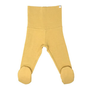 oh baby! Yoga Footie Pant Baby Rib - Maize