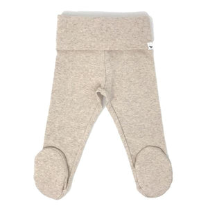 oh baby! Yoga Footie Pant Baby Rib - Sand