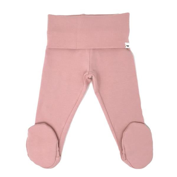 oh baby! Yoga Footie Pant Baby Rib - Blush
