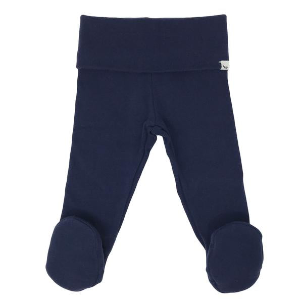 oh baby! Yoga Footie Pant Baby Rib - Navy