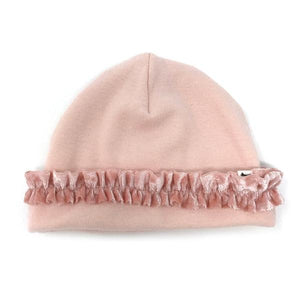oh baby! Ruffled Two Piece Set Hat - Pale Pink with Pale Pink Velvet