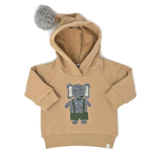 oh baby! Dapper Elephant Hooded Sweatshirt - Honey