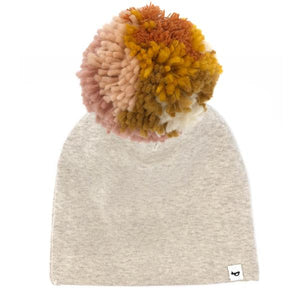 oh baby! Snap Pom Hat Blush Mix - Sand