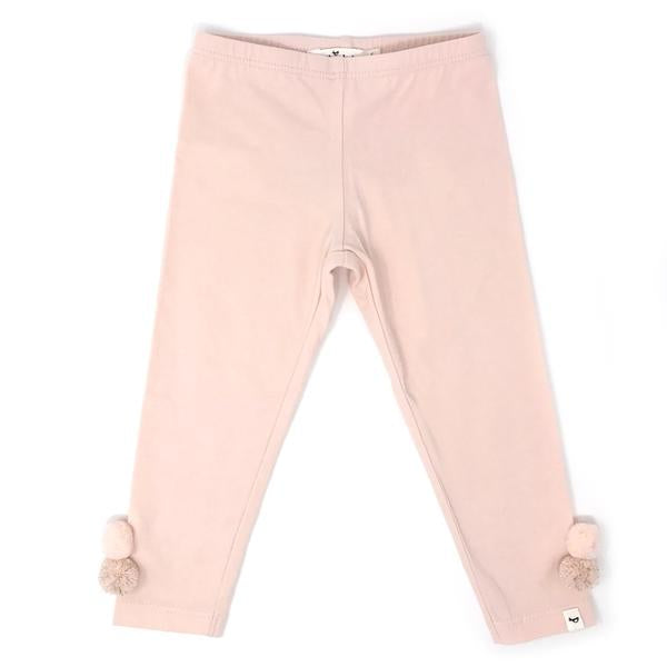 oh baby! Yarn Pom Leggings - Pale Pink