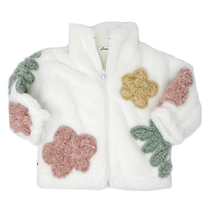 oh baby! Danish Floral Infant Jacket  - Cream Multi