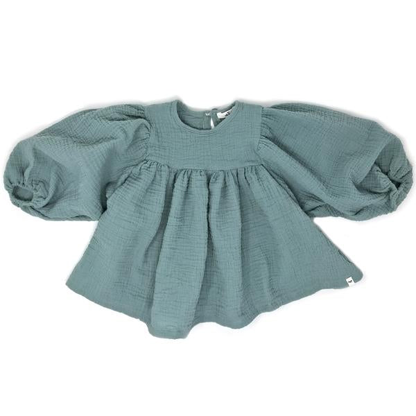 oh baby! Raphael Double Gauze Blouse - Misty Blue