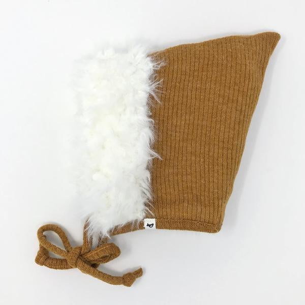 oh baby! Snowdrift Pixie Infant Hat - Caramel