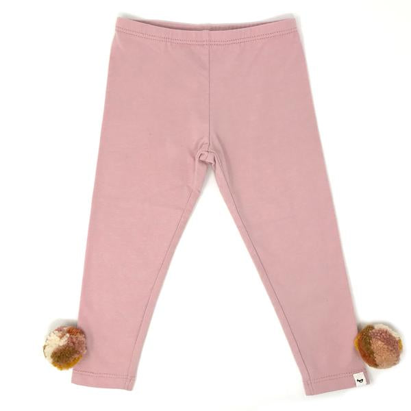 oh baby! Yarn Pom Leggings - Blush Multi