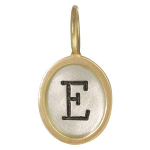 Heather Moore Single Initial Oval Charm