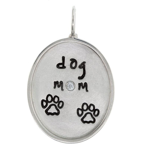 Heather Moore Dog Mom Oval Charm