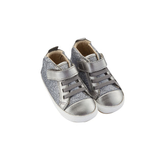 Old Soles Cheer Glam Infant Baby Shoes - Gunmetal
