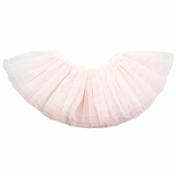 oh baby! Frill Tutu Ivory Gold Over Apricot Tulle