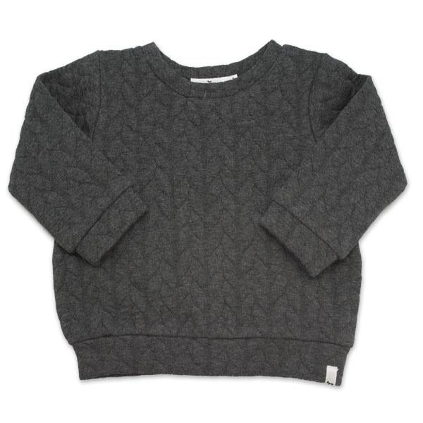 oh baby! Brooklyn Boxy Quilted Cable, Charcoal Heather