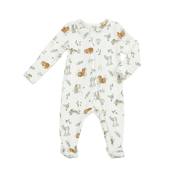 angel dear delicate woodland zipper footie